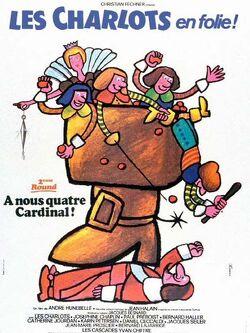 Couverture de Les Charlots en folie : À nous quatre Cardinal !