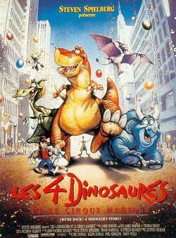 Couverture de Les Quatre Dinosaures et le Cirque magique