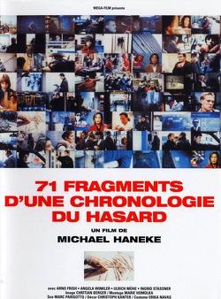 Couverture de 71 fragments d'une chronologie du hasard
